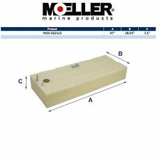 Moeller 32525 25 Gallon Below Deck Permanent Marine Fuel Tank