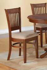 Set of 4 Vancouver kitchen dining chairs with microfiber upholstery in espresso