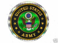 """United States Army 3"""" Round Seal Sticker Decal Military Armed Forces Sticker"""