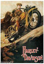 Motorcycle - Poster/Print - Harley Davidson  - Vintage Style Poster