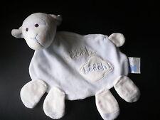 Doudou CMP éveil et tendresse mouton agneau plat blanc bleu ciel bêêêh ! ...