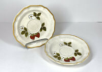 "Mikasa Strawberry Festival Set of 2 Saucer Plate 6.25"" EB 801 Japan Garden Club"