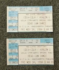 Lot of 2 DEAD CAN DANCE Concert Ticket Stubs 1990 Wadsworth UCLA