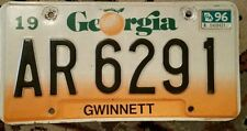Georgia License Plate with the Peach   AR6291