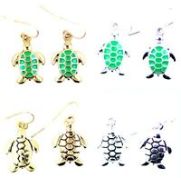 Vintage retro style tortoise / turtle charm earrings, mutiple choices