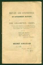 ca. 1858 PRE CIVIL WAR SECRET CIRCULAR on LECOMPTON CRISIS Tammany Hall MEETING