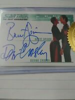 Star Trek Brent Spiner Denise Crosby Dual Autograph Card The Next Generation...