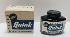Bundle Of 2 Parker Vintage Quink Bottle Ink Washable Royal Blue New
