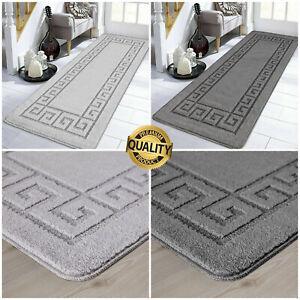 Non Slip Grey Area Rugs Long Hallway Runner Carpet Washable Kitchen Floor Mats