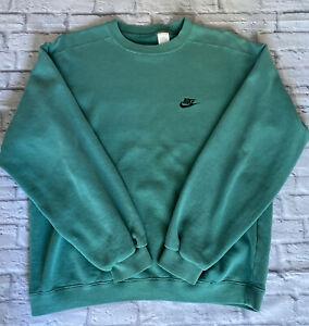 Vintage Nike Green Sweatshirt Jumper 1990's Ladies Large