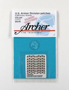 Archer 1/35 US Armored Division Uniform Patches WWII (80 pcs) [Fabric] AR99019