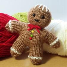 Gingerbread man knitting pattern, fast and cute yarn stash knit.