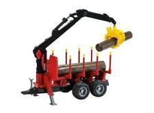 John Deere Trailer Loading Crane & Logs 1:16 Scale Model Toy Gift Christmas