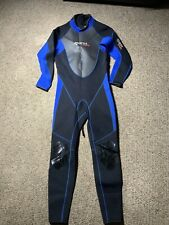 Mares Mens Black Blue Gray 3mm Full Body Tropic Wetsuit Size XL