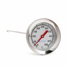 500 °C Grad Thermometer 50cm Sonde für Grill Backofen Pizzaofen Bbq Ofen Smoker