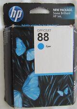 New HP 88 Cyan Ink Cartridge , C9386AN HP OFFICEJET PRO K550 K5400 K8600 L7480