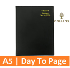 2019 2020 Financial Year Diary Collins Vanessa A5 Day to Page DTP BLACK Spiral