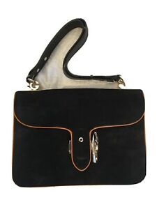 100% AUTHENTIC NEW GUCCI DOLLAR Black Velvet With Tan Lines SHOULDER BAG/HANDBAG