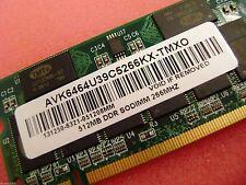 TMTc 512MB PC2100 DDR 266MHz Laptop Memory RAM * AVK6464U39C5266KX-TMXO