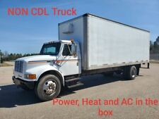 2000 International Box van Truck Mobile Jobsite, 24' Box, Power, heat, Ac, light