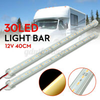 2x 12V 40cm 30 LED SMD Interior Strip Light Bar Lamp Car Van Caravan Camper