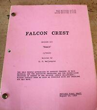 FALCON CREST TV SERIES SHOW SCRIPT EPISODE MAGGIE