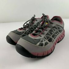 Caterpillar CAT Connexion Women US 8.5 Gray Pink Steel Toe Safety Toe Work Shoes