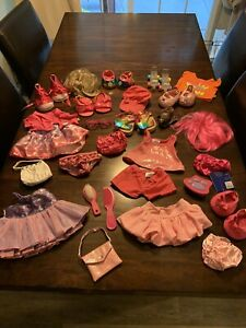 Huge Lot of 35 Build A Bear Clothes Outfits Dresses Shoes Shirts Skirts Shorts