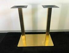 Tischbein | Stahl | Tischfuß | Tischgestell | doppelt | Gold