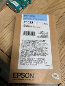 Epson T6035 (C13T603500) Cyan UltraChrome Ink Cartridge