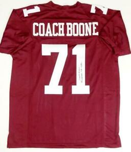 Coach Herman Boone Autographed Maroon College Style Jersey w/Insc- JSA W Auth *1