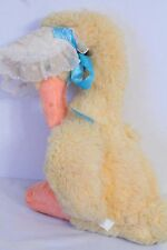 "Rushton Company 15"" Yellow Duck Goose w/ Bonnet Vintage Plush Toy Doll"