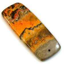38Ct Natural Bumble Bee Jasper (long-48mm X 20mm) DRILLED Pendant Bead