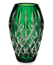 "Waterford ARAGLIN Prestige Emerald Crystal Vase 7"" #156055 New In Box"