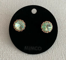 Mimco Mae Studs In Apple Green/Rose Gold RRP$79.95