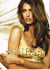 PUBLICITE ADVERTISING 104  2009  GUESS  collection bijoux montres
