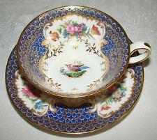 Antique Gilman Collamore Spode Copelands China ENGLAND Birds Floral Cup & Saucer