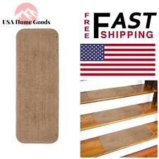 Beige Non-Slip Stair Tread Cover (Set of 13) 9 in. x 26 in. Rugs Carpets Stairs