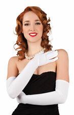 Handschuhe extra lang Luxus weiß Charleston Damen-Handschuhe Einheitsgroße KK