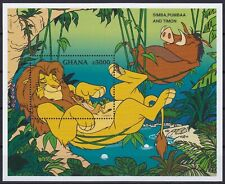 Ghana Block 308 (2435) **, Walt Disney - König der Löwen - Simba & Timon