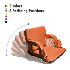 Portable Reclining stadium seats chairs for bleachers w/Backs and Padded Cushion