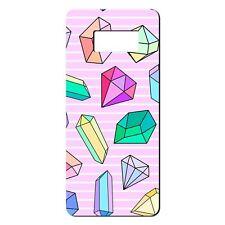 Para Samsung Galaxy S8 Funda de Silicona Rosa Bling Diamantes Azul Púrpura-S666