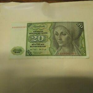 20 Deutsche Mark - Germany Deutsche Bundesbank - Banknote