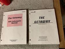 Original White cover The Getaway High Speed 2 set Williams Pinball game Manual