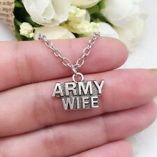 Army Wife charm NECKLACE chain Pendant military  jewellery