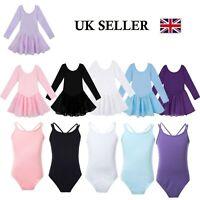 UK Girls Ballet Dance Leotard Dress Kids Gymnastics Tutu Skirt Dancewear Costume