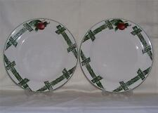 "Set Lot (2) CADES COVE Collection by CITATION 7 1/2"" Salad Plate APPLE BLOSSOMS"
