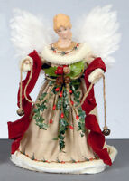 Natural Angel Fairy Christmas Tree Top Topper Decoration Vintage Style 30cm Tall