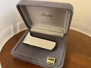 Anson Sterling Silver Money Clip Original Box
