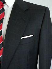 Hickey Freeman Loro Piana Blazer Jacket Sport Coat Wool Grey Red Pane Men 40/41R
